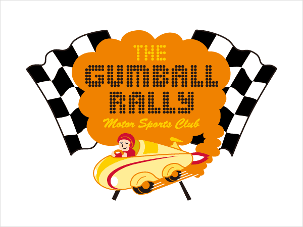 「The GUMBALL RALLY Motor Sports Club」 ロゴマークデザイン